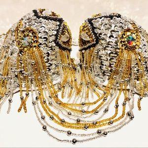 💥34DD/F/G💥Crystal rhinestone jewel beads halter